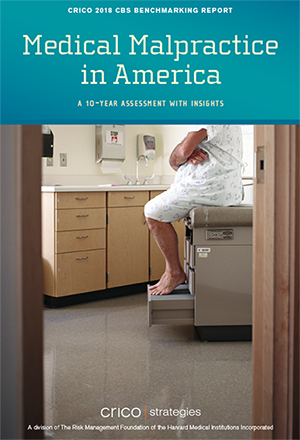 Cover image of the CRICO Strategies CBS Report Medical Malpractice in America