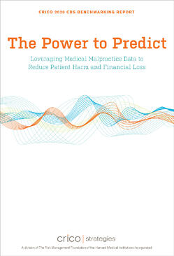 Cover image of CRICO Strategies CBS Report, The Power to Predict