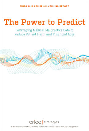 Cover image of the CRICO Strategies CBS Report The Power to Predict
